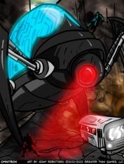 "Omnitron in its ""Rampaging Robot"" mode"