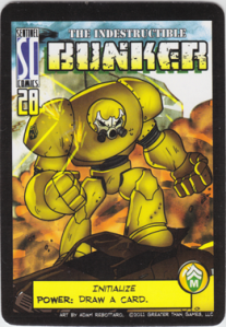 """Hero """"Bunker"""" has a special armor which can switch between various """"modes"""""""