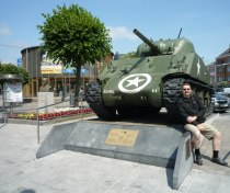 Bastogne: Place General McAuliffe with Sherman tank and McAuliffe bust