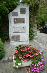This Memorial is hidden behind the church