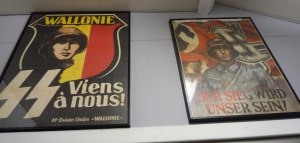 The museum displays many propaganda posters from all factions