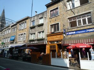 The main road of La Roche offers nice restaurants, pubs, and shops