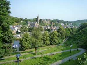 The view from the hill is great - La Roche and its famous castle