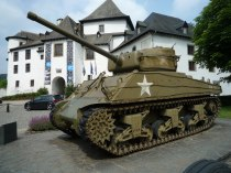 The Sherman tank at Clervaux castle