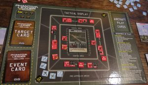 "The ""Tactical Display"" serves as the game board when flying over target, and also lists the Sequence of Play"