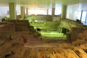 The public baths in the Roman city of Tolbiacum